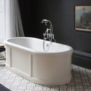 vrijstaand bad - retro bad - houten bad