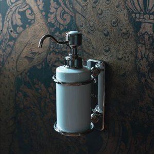 zeepdispenser - zeeppompje - landelijke badkameraccessoires - klassieke badkamers - landelijke badkamers